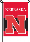 BSI PRODUCTS 83005 2-Sided Garden Flag - Nebraska Cornhuskers
