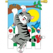 Climbing Cat Flag Indoor/Outdoor 71cm x 112cm