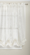 Lorraine Home Fashions Hopewell Lace Window Shade, 150cm by 160cm , Cream