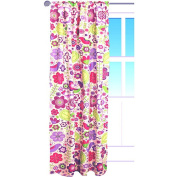 Bacati Botanical Purple Floral Curtain Panel