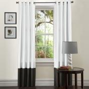 Lush Decor Black and White Prima 210cm Curtain Panels