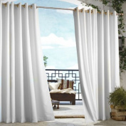 Commonwealth Home Fashions Outdoor Décor Gazebo Outdoor Solid Grommet Top Curtain Panel in Chocolate Size