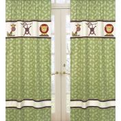 JoJo Designs Jungle Time Window Panel in Green Leaf