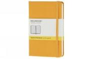Moleskine Classic Notebook, Pocket, Squared, Orange Yellow, Hard Cover (3.5 x 5.5)