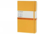 Moleskine Classic Notebook, Large, Ruled, Orange Yellow, Hard Cover