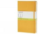 Moleskine Classic Notebook, Large, Plain, Orange Yellow, Hard Cover (5 x 8.25)