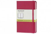Moleskine Classic Notebook, Pocket, Plain, Magenta, Hard Cover (3.5 x 5.5)