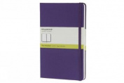 Moleskine Classic Notebook, Large, Plain, Brilliant Violet, Hard Cover (5 x 8.25)