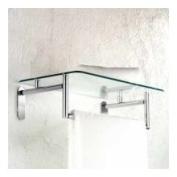 Motiv 0243/20-PC Polished Chrome Sine 20'' Hotel Shelf with Towel Bar