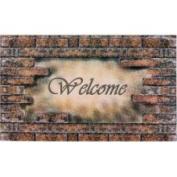 Achim Importing 46cm . x 76cm . Welcome Bricks Outdoor Rubber