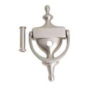 Door Knocker with Viewer 18cm  - Satin Nickel