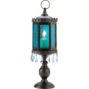 Gifts & Decor Gifts Decor Home Decor Exotic Azure Pedestal Lantern Candle Holder 06-13401