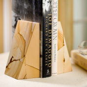 Triangle Natural Marble Bookends