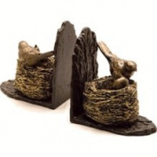 SPI Resin & Cast Iron Bird & Nest Bookends