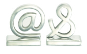 Benzara 30677 Signs @ And & Solid Metal Bookends Pair Statues