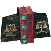 Bey Berk R11l Black Marble Scales of Justice Bookends