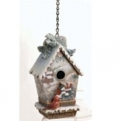 Nature's Story Teller Christmas Decorative Birdhouse Figure 17cm