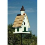 Heartwood 021B Country Church Bird House - White with Copper Steeple