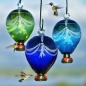 Parasol Eighty Days Balloon Hummingbird Feeder, Green, 1180ml, Edg