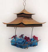 Parasol Bw4shaq Bouquet Basketweave Shelter Hummingbird Feeder Clear