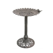 Midas-Lin 29619CR Sunflower Copper Birdbath with Bird Decor