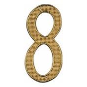 Mintcraft N-008 - 10cm House Number #8 Pol Brass