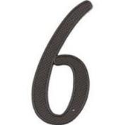 Mintcraft N-016 10cm House Number 6 Black Finish