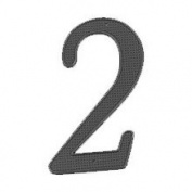 Mintcraft N-012 10cm House Number 2 Black Finish
