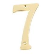 Mintcraft N-Z047PB3L - House Number #7 10cm SB Finish