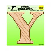 Hy-Ko Products GB-7-Y 18cm Wood Grain Letter Y
