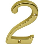Schlage SC23026605 Address Numbers Polished Brass Address Numbers Home