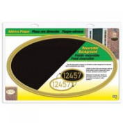 Hy-Ko Products AK-450 Address Plaque Gold Oval Plastic With Acrylic Insert - Carded