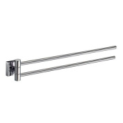 Smedbo RS326 House Collection Swing Arm Towel Bar - Brushed Chrome
