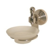 Allied Brass Retro Wave Soap Dish with Glass Liner Finish