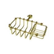 Kingston Brass CC2142 7 Inch Riser Mount Soap Basket - Polished Brass