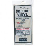 Excell 70in. X 71in. Clear Deluxe Vinyl Shower Curtain Liner 1ME-40O-699-960