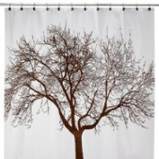 Splash Home Mocha Tree 70 W x 72 L Vinyl Shower Curtain