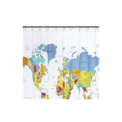 Saturday Knight Ltd. The World Vinyl Shower Curtain