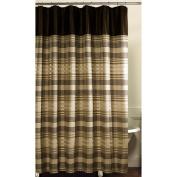 Maytex Shower Curtain, Fabric, Blake, Chocolate
