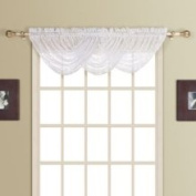 United Curtain Company New Rochelle 111.8cm x 96.5cm All Over Lace Waterfall