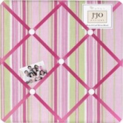 JoJo Designs Jungle Friends Stripe Print Fabric Memo Board