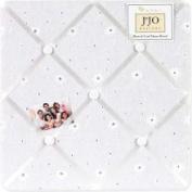 Sweet JoJo Designs White Eyelet Memory Board