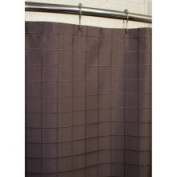 Lincoln Brown Grid Shower Curtain