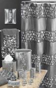 Popular Bath Sinatra Silver Shower Curtain