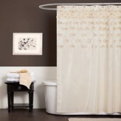 Lush Decor A00462P12 Lucia Ivory Shower Curtain