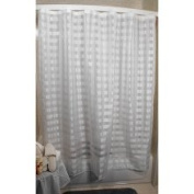 Kartri Sales Vision Exchange Chequered Sheer White Shower Curtain