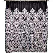 Famous Home Fashions Waverly Essence Black Shower Curtain