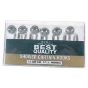 Excell Home Fashions Shower Curtain S-Hook Set One Size