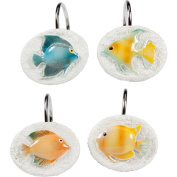 Creative Bath Rainbow Fish Resin Shower Hooks, Multi-Colour