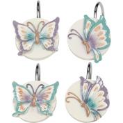 Creative Bath Garden Gate Resin Shower Hooks, Lilac GGT83LIL